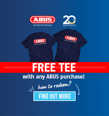 Free Tee with any ABUS purchase!